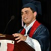 Honor Essayist, Justin DiLoreto speaking at the North Middlesex HS Class of 2017 Graduation.   <br /> Sentinel & Enterprise/ Jim Fay