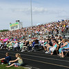 Stacey Diamond | The Goshen News<br /> Northridge High School families wait for the start of  the graduation ceremony Sunday afternoon.