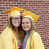 Stacey Diamond | The Goshen News<br /> Ally Osterday and Morgan Lantz, share smiles at the Northridge High School graduation Sunday afternoon.