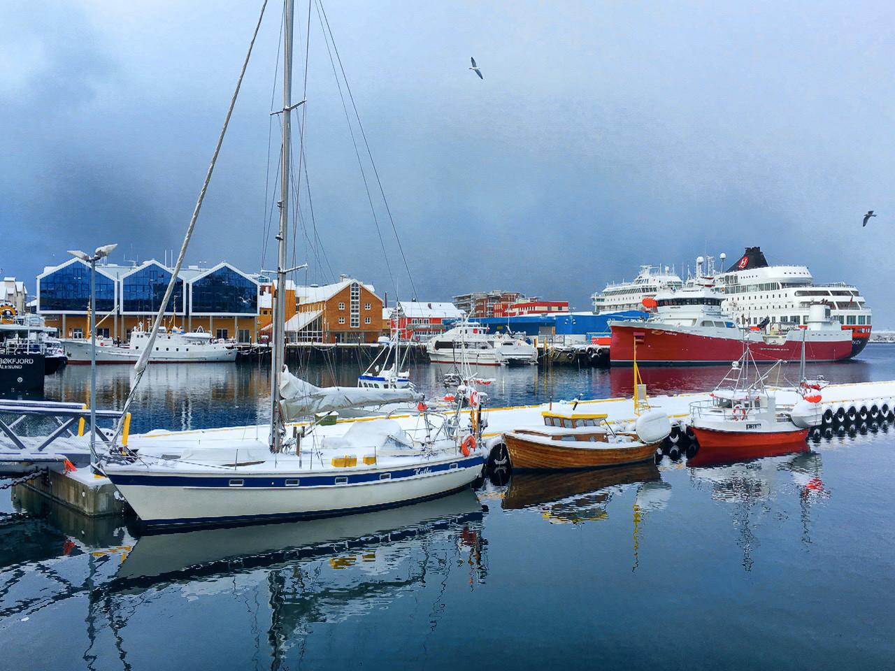 Docked in Hammerfest (courtesy DM)