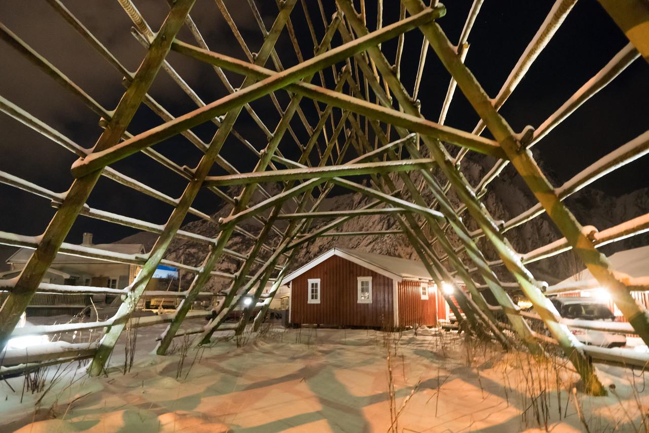 Svolvaer - Fishing Village - Racks used to dry Cod