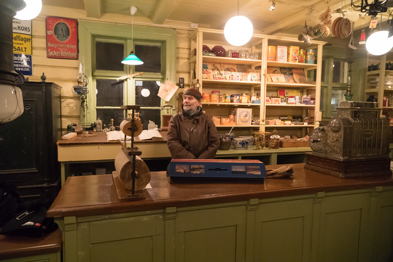 Svolvaer - Fishing Village - Company Store - Our Tour Guide