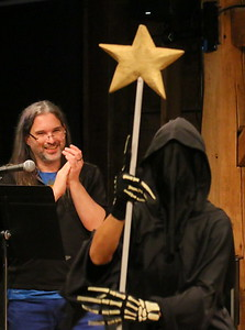 IMG_6645 producer Kevin Quigley sings And When I Die,,as grim reaper tapdances