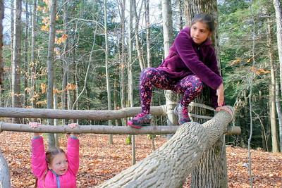 IMG_6207 Zella Little,6, and sadie Boulbol,9,,climb on future latrine