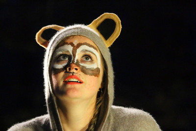 IMG_5327 nicole meyer as a chipmunk in a skit about a chipmunk who visits vins
