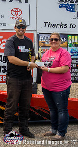 "Eric Feucht, Canton,  SD; 2017 Oahe Speedway Summit Racing Equipment ""King of the Track"" and Super Pro Winner"