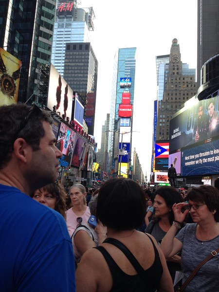 One of our many trips through Times Square.