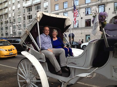 At the conclusion of our horse carriage ride through Central Park.