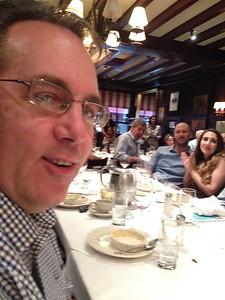 Paul, sitting next to me, enjoying the luncheon.