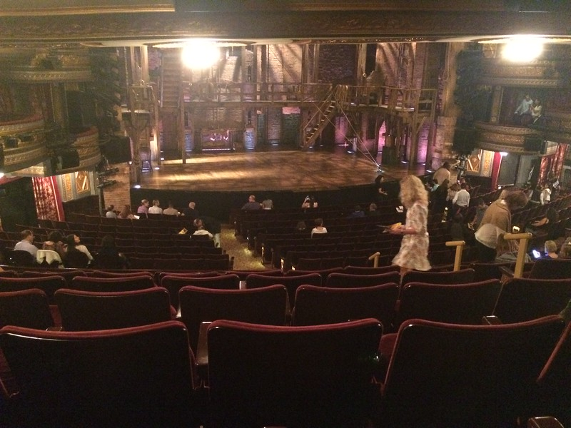 The set for Hamilton soon to be filled with Revolutionary times figures singing in rap.