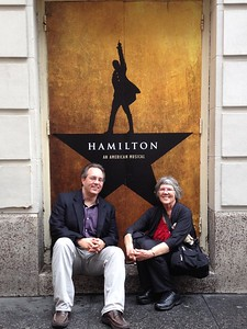 Getting ready to wait for admittance to Hamilton.