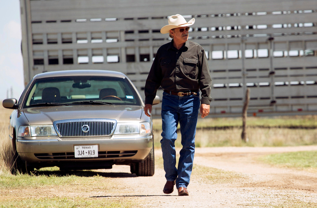 """. This image released by CBS Films shows  Jeff Bridges in a scene from \""""Hell or High Water.\""""  Bridges was nominated for an Oscar for best  supporting actor on Tuesday, Jan. 24, 2017, for his work in the film. The 89th Academy Awards will take place on Feb. 26. (Lorey Sebastian/CBS Films via AP)"""