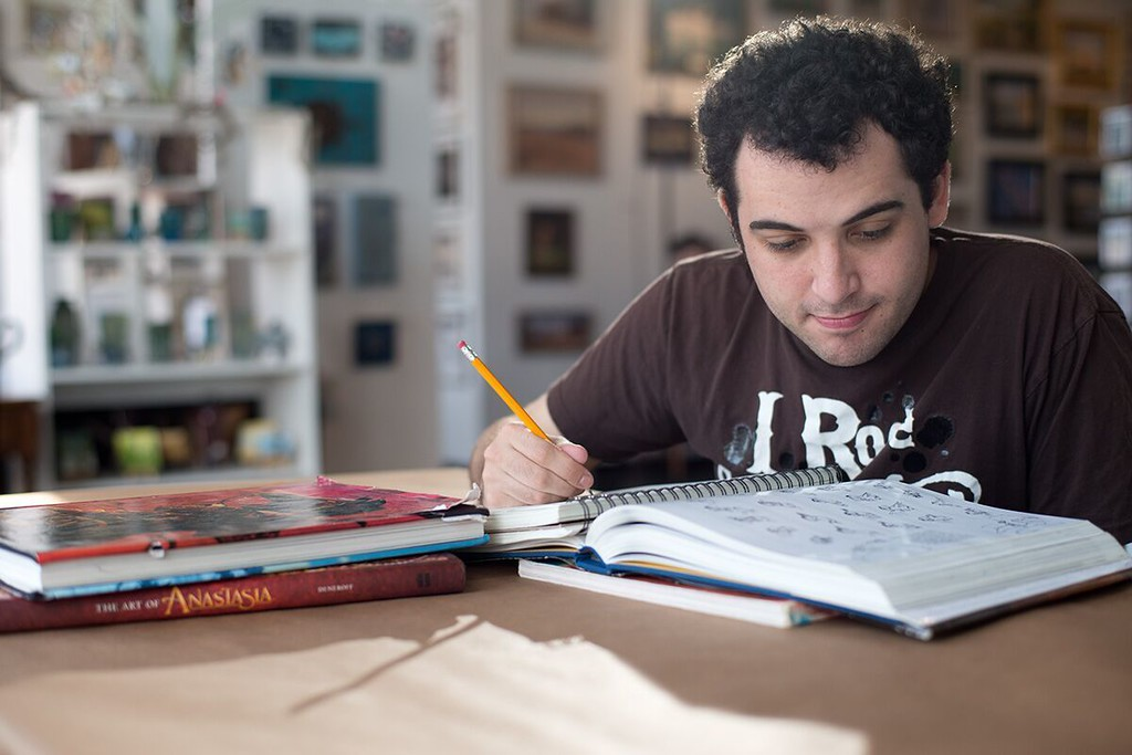 ". This image released by The Orchard shows Owen Suskind in a scene from ""Life Animated.\"" The film was nominated for an Oscar for best documentary feature on Tuesday, Jan. 24, 2017.  The 89th Academy Awards will take place on Feb. 26. (The Orchard via AP)"