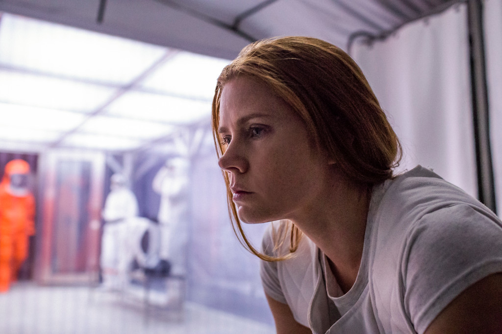 ". This image released by Paramount Pictures shows Amy Adams in a scene from ""Arrival.\""  The film was nominated for an Oscar for best picture on Tuesday, Jan. 24, 2017.  The 89th Academy Awards will take place on Feb. 26.   (Jan Thijs/Paramount Pictures via AP)"