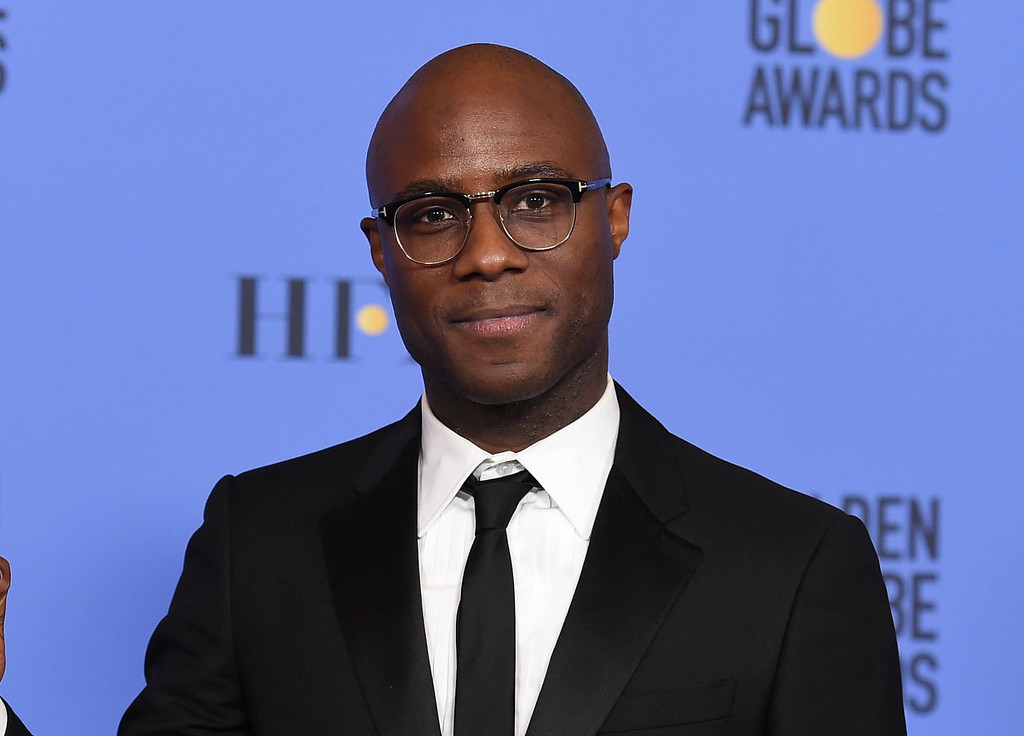 """. FILE - This Jan. 8, 2017 file photo shows Barry Jenkins, director of \""""Moonlight,\"""" in press room at the 74th annual Golden Globe Awards in Beverly Hills, Calif. Jenkins was nominated for an Oscar for best adapted screenplay on Tuesday, Jan. 24, 2017, for the film. The 89th Academy Awards will take place on Feb. 26. (Photo by Jordan Strauss/Invision/AP)"""