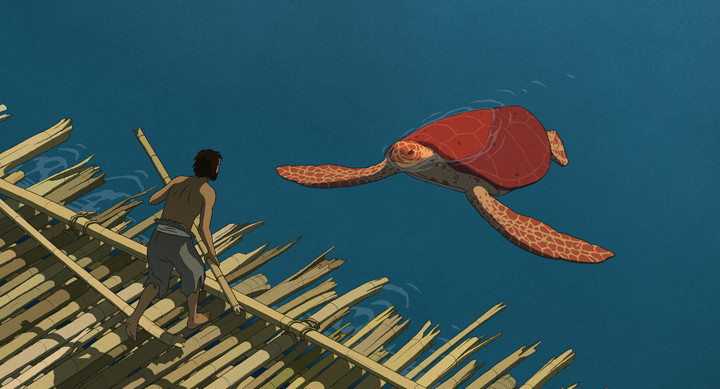 ". This image released by Sony Pictures Classics shows a scene from the animated film, ""The Red Turtle.\"" The film was nominated for an Oscar for best animated feature on Tuesday, Jan. 24, 2017.  The 89th Academy Awards will take place on Feb. 26. (Sony Pictures Classics via AP)"