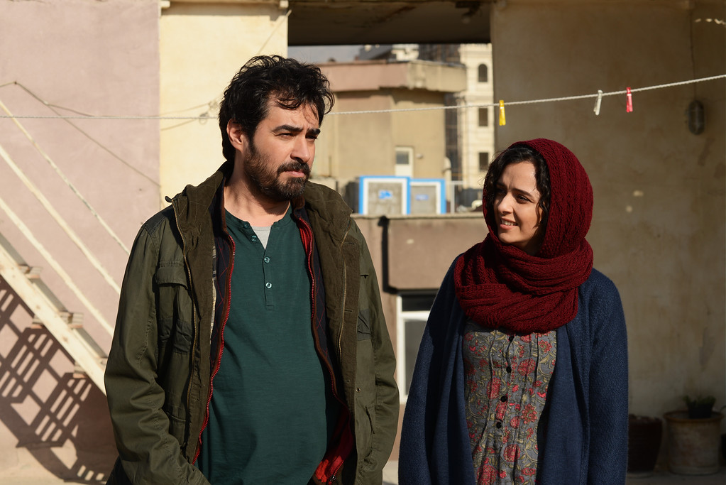 """. This image released by Cohen Media group shows Shahab Hosseini, left, and Taraneh Alidoosti in a scene from \""""The Salesman.\"""" The film was nominated for an Oscar for best foreign language film on Tuesday, Jan. 24, 2017.  The 89th Academy Awards will take place on Feb. 26. (Cohen Media Group via AP)"""