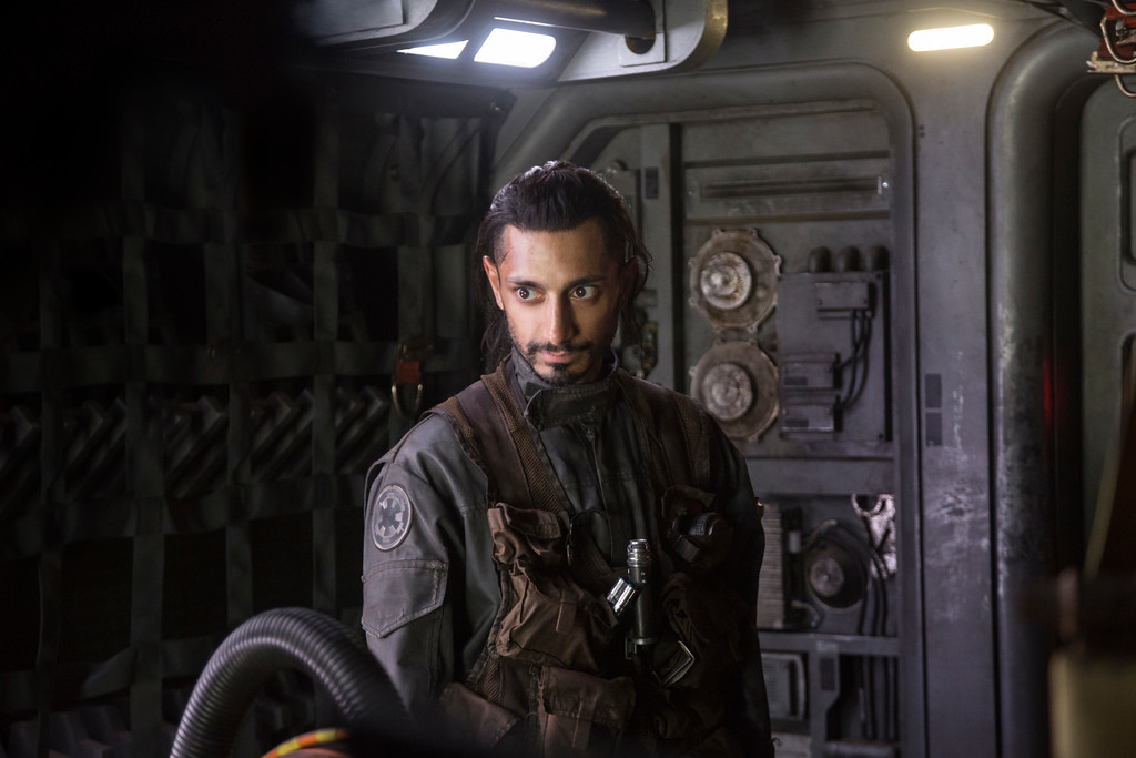 """. FILE - This file image released by Lucasfilm Ltd. shows Riz Ahmed as Bodhi Rook in a scene from, \""""Rogue One: A Star Wars Story.\"""" The �Star Wars� spinoff �Rogue One� has led the box office for the third straight week, taking in an estimated $64.3 million over the four-day New Year�s weekend. (Jonathan Olley/Lucasfilm Ltd. via AP)"""