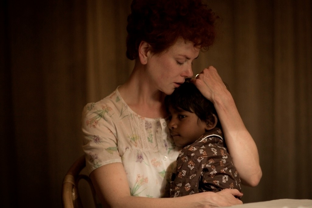 ". In this image released by The Weinstein Company, Nicole Kidman and Sunny Pawar appear in a scene from ""Lion.\"" Kidman was nominated for an Oscar for best  supporting actress on Tuesday, Jan. 24, 2017,  for her work in the film. The 89th Academy Awards will take place on Feb. 26. (Mark Rogers/The Weinstein Company via AP)"