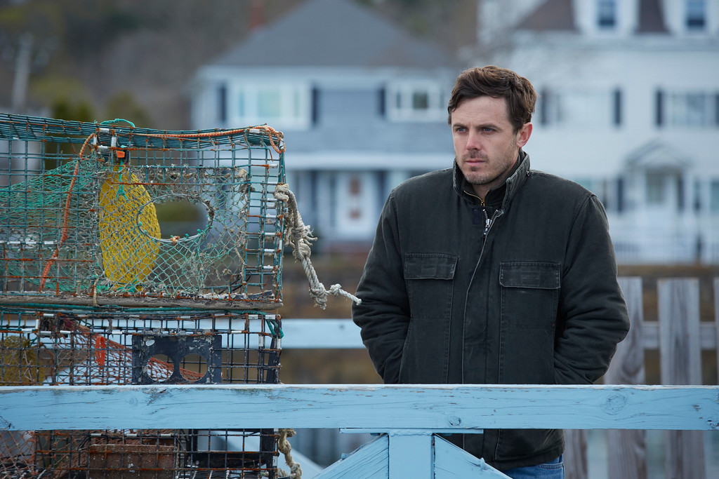 """. This image released by Roadside Attractions and Amazon Studios shows Casey Affleck in a scene from \""""Manchester By The Sea.\"""" Affleck was nominated for an Oscar for best actor in a leading role on Tuesday, Jan. 24, 2017, for his work in the film. The 89th Academy Awards will take place on Feb. 26. (Claire Folger/Roadside Attractions and Amazon Studios via AP)"""