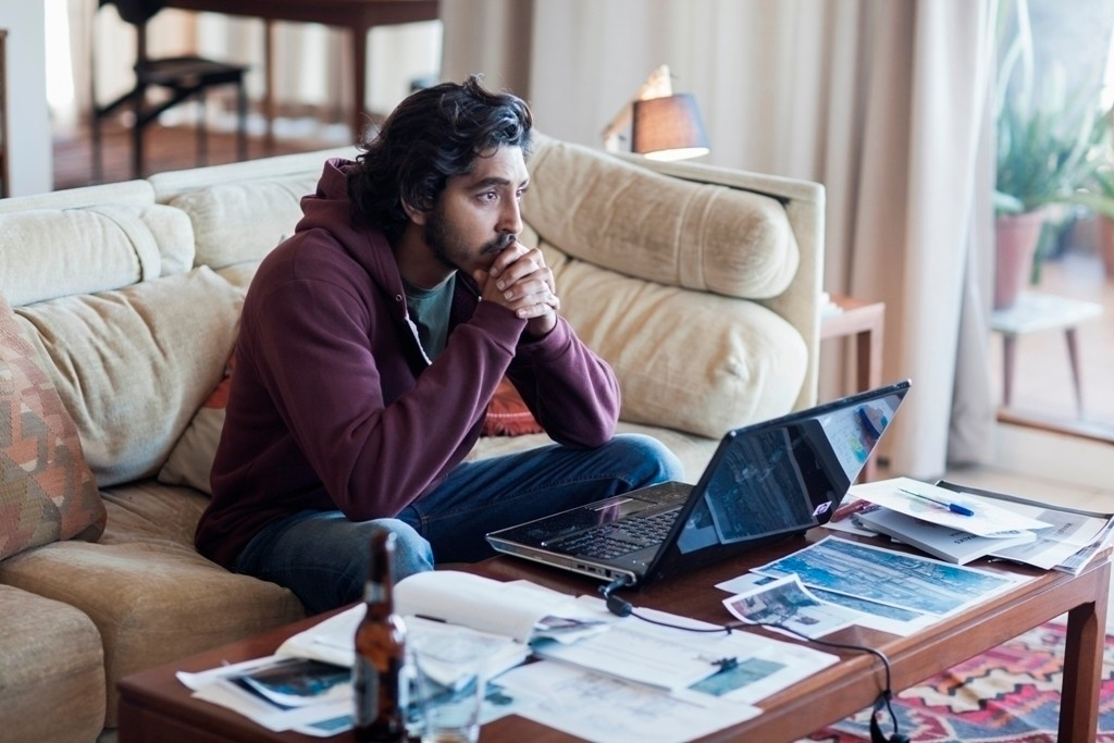 """. In this image released by The Weinstein Company, Dev Patel appears in a scene from \""""Lion.\"""" The film was nominated for an Oscar for best picture on Tuesday, Jan. 24, 2017.  The 89th Academy Awards will take place on Feb. 26.  (Mark Rogers/The Weinstein Company via AP)"""