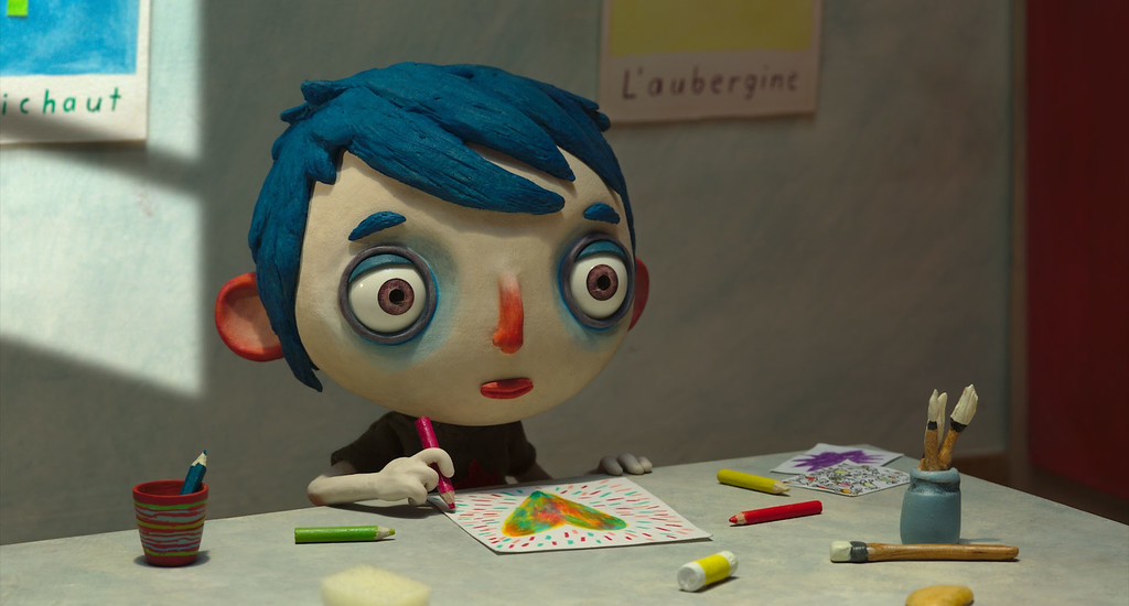 """. This image released by GKIDS shows a scene from \""""My Life as a Courgette\"""" (Zucchini). The film was nominated for an Oscar for best animated feature on Tuesday, Jan. 24, 2017.  The 89th Academy Awards will take place on Feb. 26. (GKIDS via AP)"""