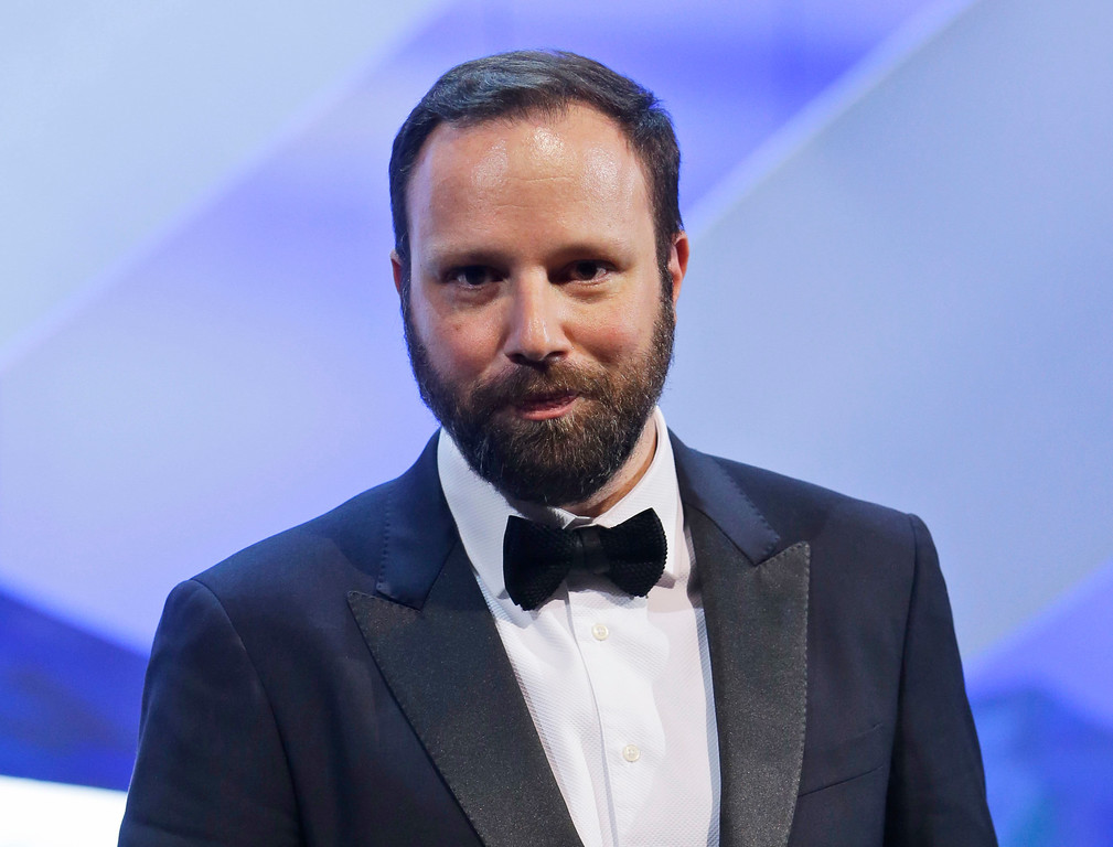 ". FILE - This May 24, 2015 file photo shows writer-director Yorgos Lanthimos who won the Jury Prize award for the film ""The Lobster\"" during the awards ceremony at the 68th international film festival, Cannes, southern France. Lanthimos and Efthimis Filippou were nominated for an Oscar for best original screenplay on Tuesday, Jan. 24, 2017, for the film. The 89th Academy Awards will take place on Feb. 26. (AP Photo/Lionel Cironneau, File)"