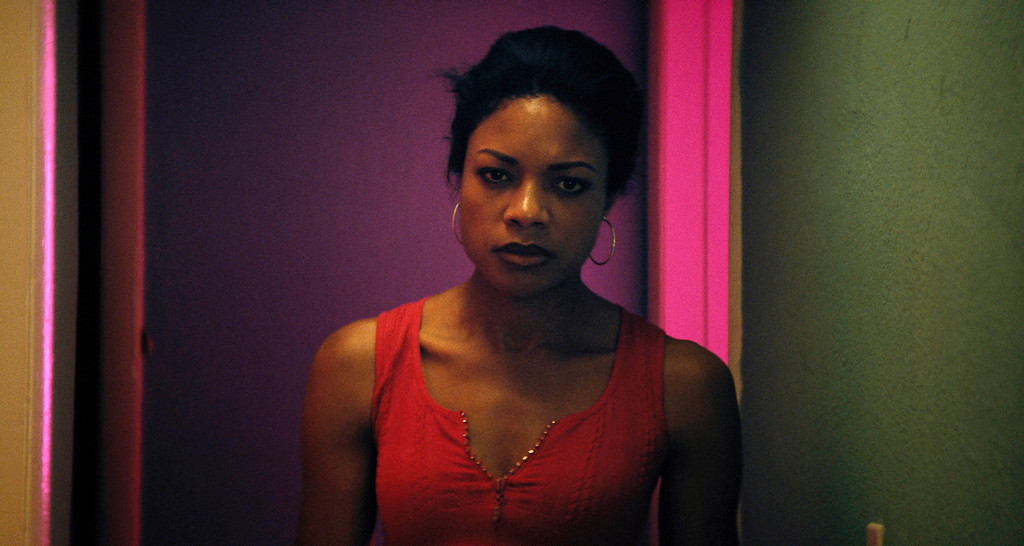 """. This image released by A24 Films shows Naomie Harris in a scene from, \""""Moonlight.\""""  Harris was nominated for an Oscar for best  supporting actress on Tuesday, Jan. 24, 2017,  for her work in the film. The 89th Academy Awards will take place on Feb. 26. (A24 via AP)"""