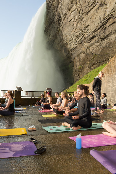 Yoga Behind the Falls