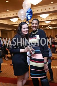 Sarah Zick, LaToshia Cannon. Photo by Tony Powell. 2017 Everybody Wins Gala. Capitol Hilton. March 21, 2017