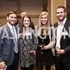 Michael Dalton, Laura Oddo, Kristin Keane, Collin Engels. Photo by Tony Powell. 2017 Everybody Wins Gala. Capitol Hilton. March 21, 2017