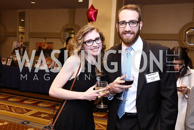 Lauren Coughlin, Nathan Slater. Photo by Tony Powell. 2017 Everybody Wins Gala. Capitol Hilton. March 21, 2017