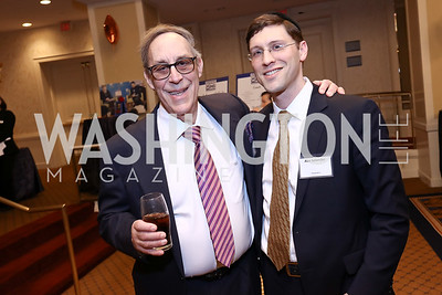 Stephen Greenfield, Abe Salander. Photo by Tony Powell. 2017 Everybody Wins Gala. Capitol Hilton. March 21, 2017