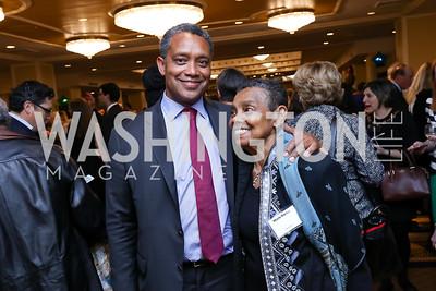 Keynote Speaker Karl Racine and Marie Racine. Photo by Tony Powell. 2017 Everybody Wins Gala. Capitol Hilton. March 21, 2017