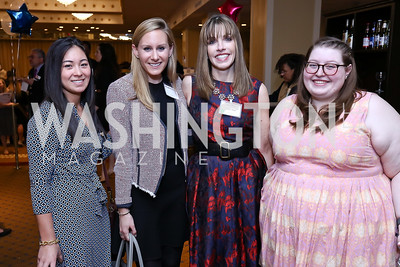 Meg Inomata, Meaghan Gilmore, Amy Bess, Sophie Lesher. Photo by Tony Powell. 2017 Everybody Wins Gala. Capitol Hilton. March 21, 2017