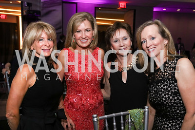 Bonnie DeWitt, Emcee Doreen Gentzler, Gail Steckler, Diana Wright. Photo by Tony Powell. 2017 A Vintage Affair. Watergate Hotel. April 29, 2017