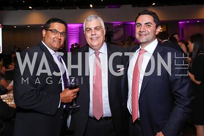 Gautam Chugh, Fannie Mae CDO Henry Cason, Bob Ghafouri. Photo by Tony Powell. 2017 A Vintage Affair. Watergate Hotel. April 29, 2017