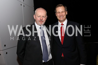 Actor David Morse, Charlottesville Mayor Mike Signer. Photo by Tony Powell. 2017 ADL Concert Against Hate. Kennedy Center. October 30, 2017