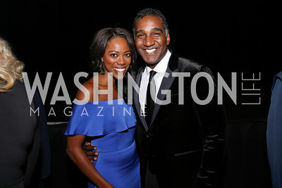 Yvonne Orji, Norm Lewis. Photo by Tony Powell. 2017 ADL Concert Against Hate. Kennedy Center. October 30, 2017