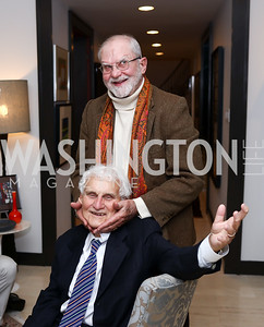 Arlie Schardt, Bill Regardie. Photo by Tony Powell. 2017 ADL Concert Against Hate. Kennedy Center. October 30, 2017