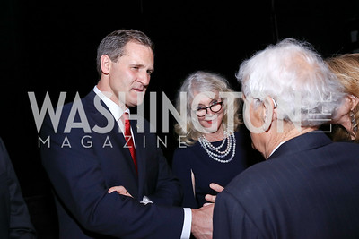Charlottesville Mayor Mike Signer, Blythe Danner, Arlie Schardt. Photo by Tony Powell. 2017 ADL Concert Against Hate. Kennedy Center. October 30, 2017