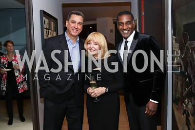 Maestro Emil Decou, Bonnie Nelson Schwartz, Norm Lewis. Photo by Tony Powell. 2017 ADL Concert Against Hate. Kennedy Center. October 30, 2017