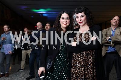 Vicky Markovitz, Mercedes Ortiz-Olivieri. Photo by Tony Powell. 2017 ALB Rock the Stacks. MLK Library. February 24, 2017