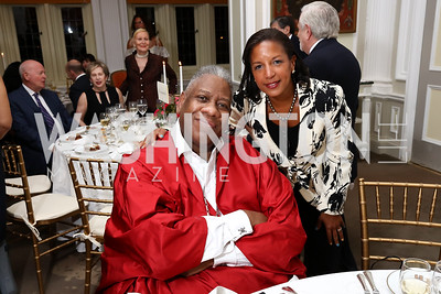 André Leon Talley, Dr. Susan Rice. Photo by Tony Powell. Alliance Francaise. Residence of France. April 4, 2017