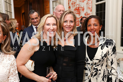 Meg Clerc, Yasmine Agha, Dr. Susan Rice. Photo by Tony Powell. Alliance Francaise. Residence of France. April 4, 2017