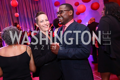 Elisa Clark, Robert Battle. Photo by Tony Powell. 2017 Alvin Ailey DC Gala. Kennedy Center. February 7, 2017