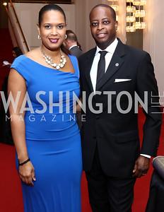 Simone Frederick and Howard University President Wayne Frederick. Photo by Tony Powell. 2017 Alvin Ailey DC Gala. Kennedy Center. February 7, 2017