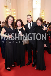 Allyson Tierney, Jill Davolio, Eddie Milligan, Lindsay Renninger. Photo by Tony Powell. 2017 Alvin Ailey DC Gala. Kennedy Center. February 7, 2017