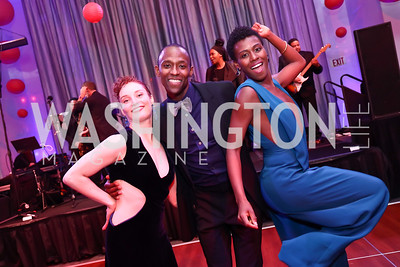 Megan Jakel, Samuel Lee Roberts, Rachael McLaren. Photo by Tony Powell. 2017 Alvin Ailey DC Gala. Kennedy Center. February 7, 2017