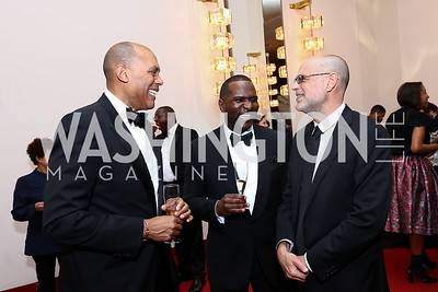 Eric Jones, Wesley Thomas, Robert Raben. Photo by Tony Powell. 2017 Alvin Ailey DC Gala. Kennedy Center. February 7, 2017
